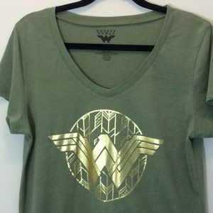 DC Comics Army Green & Gold Wonder Woman T-Shirt